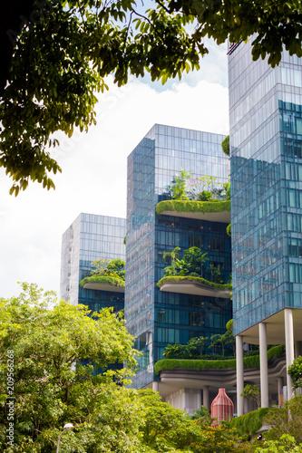 Modern futuristic architecture of Singapore