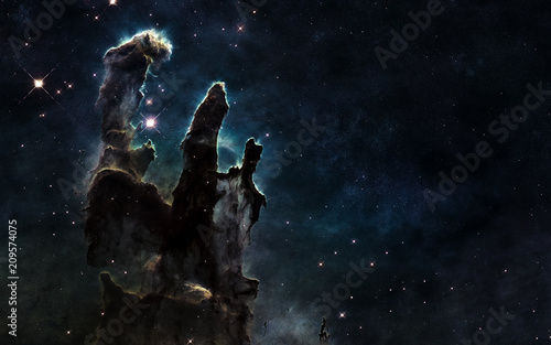 Fotobehang Nasa Pillars of Creation. Deep space. Beautiful cosmic landscape. Elements of the image are furnished by NASA