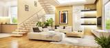 Moderne Küche und Wohnzimmer - 209592626
