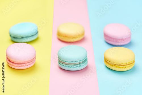 Cukierki Macaron Na Pastelowym Tle