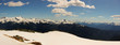Panorama taken on top of mountains at Whistler British Columbia, home to the 2010 Winter Games