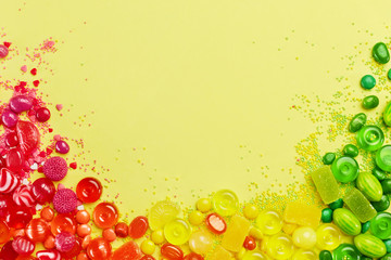 Rainbow Candy. Colorful Sweets And Candies