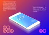 Smartphone menu icons vector - 209600422
