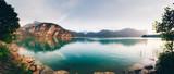 Lake Mondsee in Salzkammergut, Austria - 209600444