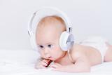 kid in earphones