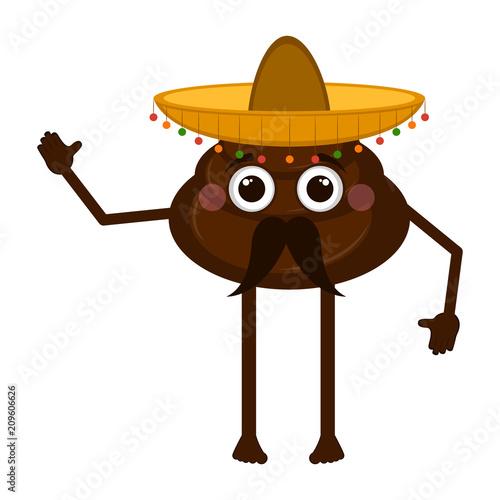Mexican poop emoji
