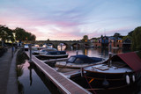 Twilight on the river at Henley-On-Thames in Oxfordshire - 209609007