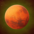 planet Mars, the red planet in front of the stars - 209610297