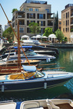 Very expensive luxury speed boats and yachts moored at the beautiful embankment. - 209613600