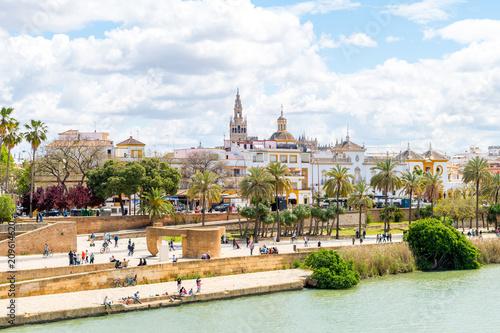 views to Triana neighborhood at Seville, Spain