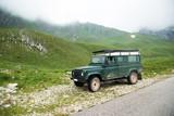 Off-road expedition, mountain landscape.Safari