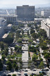 Ariel view of Grand Park in Los Angeles