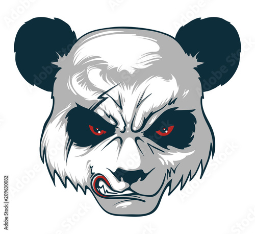 angry panda vector illustration buy photos ap images detailview