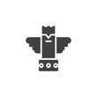 Eagle totem vector icon. filled flat sign for mobile concept and web design. ancient totem simple solid icon. Symbol, logo illustration. Pixel perfect vector graphics