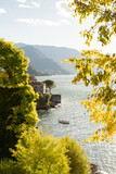 Como Lake in Italy. Panoramic Sunset View with Boat. - 209645681