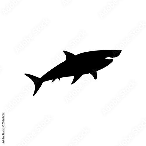 Fototapeta Shark silhouette illustration