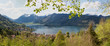 Aussicht vom Haider-Denkmal auf Schliersee im Frühling