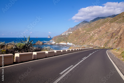 Plakat road over the ocean, Tenerife