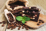 Chocolate and coffee beans - 209649281