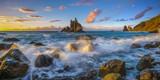 landscape of Benijo beach at sunset in Tenerife,art photography - 209649403