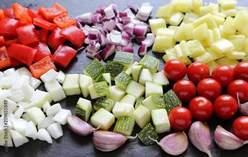 Diced vegetables. - 209655849