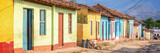 Panorama of colorful houses in a paved street of Trinidad, Cuba - 209656669