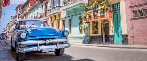 Vintage classic american car in Havana, Cuba