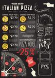 Italian Pizza Menu Template - 209663285