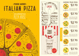 Italian Pizza Menu Template - 209663412