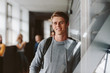 Leinwanddruck Bild - University student in campus