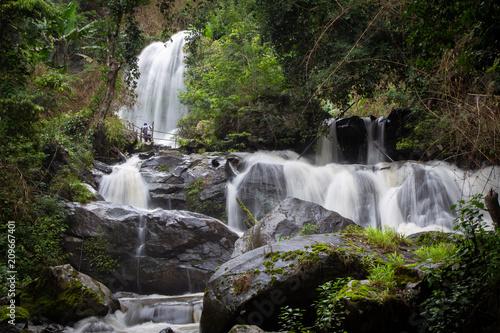 Pha Dok Siew Waterfall, Doi Inthanon  Naional Park, Chiang mai Thailand - 209667401
