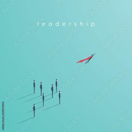 Business Superhero Vector Concept With Businessman Flying Off