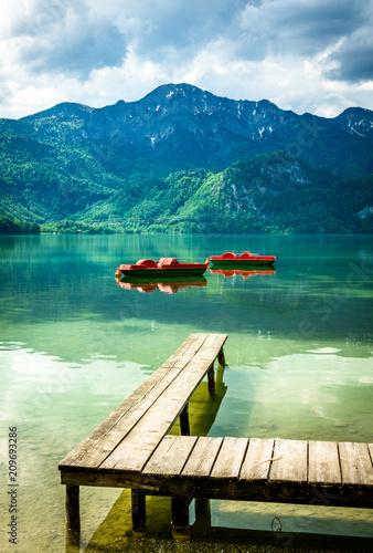 Leinwanddruck Bild kochel lake - bavaria