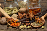 Spices for desserts on the wooden table..shallow DOF - 209694449