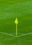 Corner flag on soccer football field - 209696435