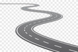 Vector Curved road with white lines
