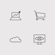 Seo And Marketing outline vector icons set - 209707407
