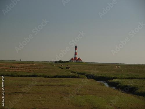Plexiglas Noordzee Leuchtturm Westerhever