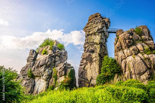 Externsteine in Teutoburg Forest, Germany