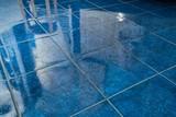 Tiled bathroom floor - 209721019