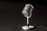 Retro style microphone in party or concert - 209725820