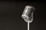Retro style microphone in party or concert - 209725887
