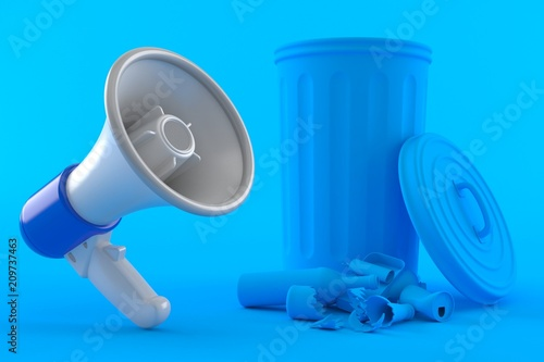 Environment background with megaphone