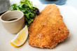 Leinwanddruck Bild - wiener schnitzel, veal cutlet and lemon, austrian cuisine