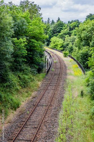 Aluminium Spoorlijn Viaduc et chemin de fer à Charbonnières-les-Bains et Dardilly