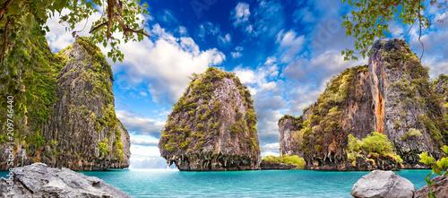 Paisaje idílico de playas y costas de Tailandia.Islas y mar de Phuket. Viajes de aventura y ensueño - 209746440