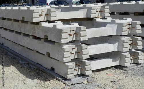 Aluminium Spoorlijn traverse de béton