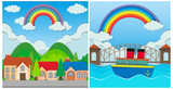 A Set of Beautiful Rainbow Scene - 209753843