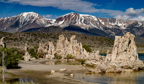 Foto Murales Mono Lake South Tufa overlooked by Mount Dana in the Owens Valley, California