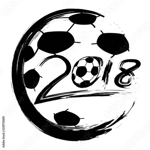 black World Cup 2018 soccer circle logo vector